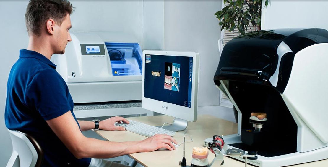моделирование цифровой стоматологической пломбы