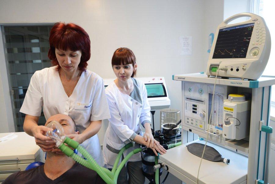 аппарат для лечения зубов под общим наркозом в клинике Багита