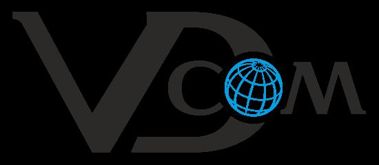 На картинке логотип веб студии по разработке сайтов VDcom